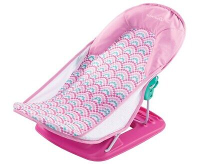 Summer Infant Deluxe Baby Bather - Pink Bubble Stripes