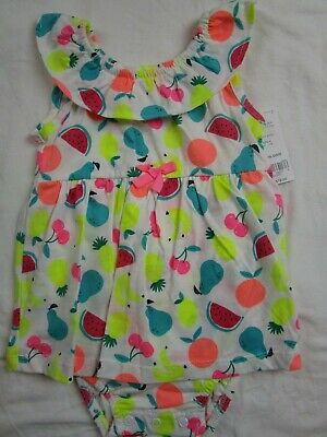 f60d2d7bc11a NWT Baby Toddler Girl 12 month Bright Fruit bubble romper outfit CARTER S  Summer