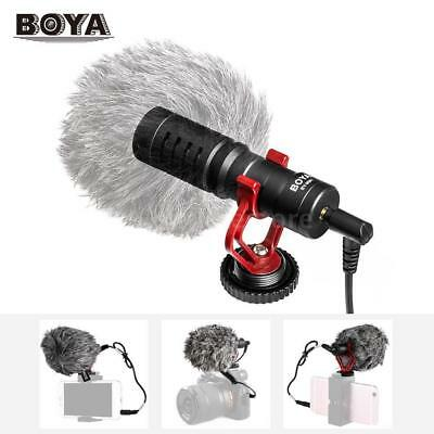BOYA BY-MM1 Cardiod Shotgun Microphone MIC Video for Smartphone Camera MSLE