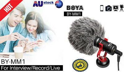 BOYA BY-MM1 Compact Video Record Microphone MIC Video for Phone Camera DSLR BYGS