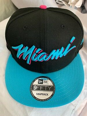 outlet store dd627 2e16c Miami Heat Vice Nights New Era Snapback Hat 9FIFTY City Edition South Beach