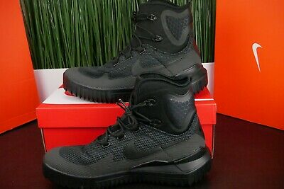 reputable site f7db9 f59eb Nike Air Wild Mid Triple Black Anthracite Mens Hiking Boots 916819-001 size  11