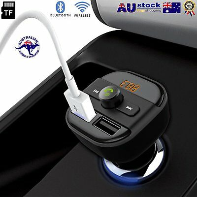 Bluetooth Car Kit Wireless FM Transmitter Dual USB Charger Audio MP3 Player MY