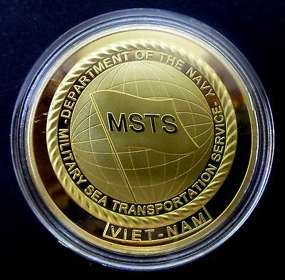 The Viet Nam War - Msts - Military Sea Transportation Service Commemorative Coin