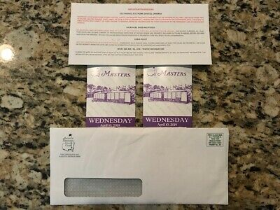 2019 Masters Grounds Badges - Wednesday Golf Tickets w/ Par 3 Contest - Augusta