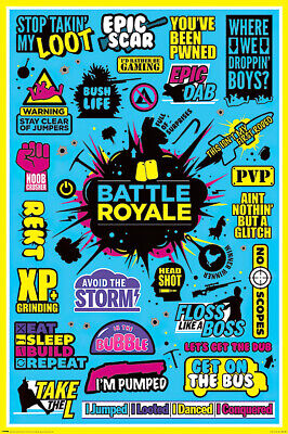 """BATTLE ROYALE - GAMING POSTER (INFOGRAPHIC - VERSION 2) (SIZE: 24"""" x 36"""")"""