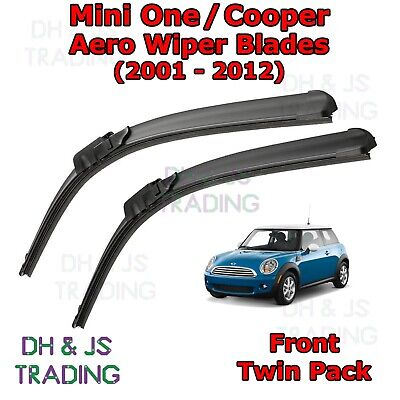 Pair Flat Aero Wiper Blades For Mini One Cooper S R50 R53 R56 F55