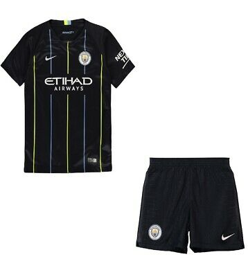 outlet store ff83f dd7a0 FOOTBALL KIDS AWAY kit manchester city 2018/19 new with tags fast delivery