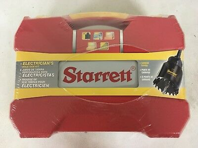 Starrett KCT06041-N CT Electricians Hole Saw Kit w/ 6 Holesaws and 4 Accessories