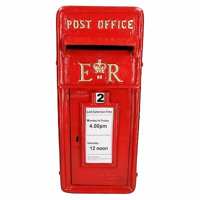 ER Royal Mail Post Letter Box Replica Cast Iron Red Post Office Lockable GB