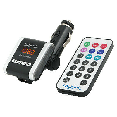 LogiLink FM0001A FM Transmitter mit MP3 Player - MP3 Player Accessory SD card -