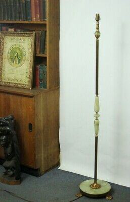 Vintage Green Onyx and Gilded Brass Standard Lamp - FREE Shipping [PL4978]