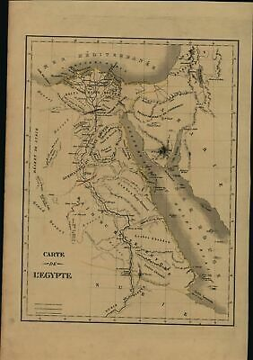 Egypt North Africa Red Sea Arabia coast Nubia scarce 1830 antique map Langlois