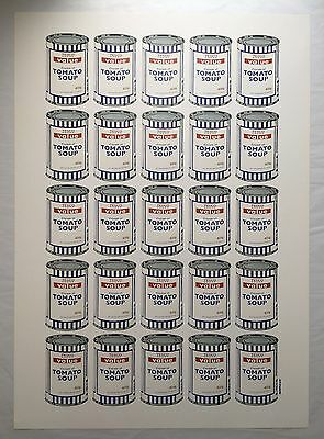 Banksy - Soup Cans  plate signed Poster, Official Banksy Authentic