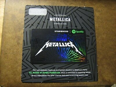 Starbucks Limited Edition METALLICA gift card new release