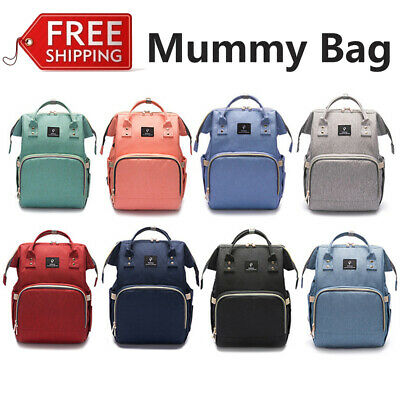 Large Mummy Diaper Bag Nappy Changing Backpack Multi-Function Travel Backpack