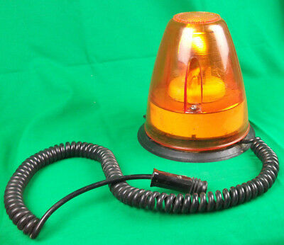Vintage Retro DORMAN Trafi BEACON 12v Amber with magnetic base