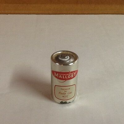 Collectible Mallory Steel Clad radio Use C Battery