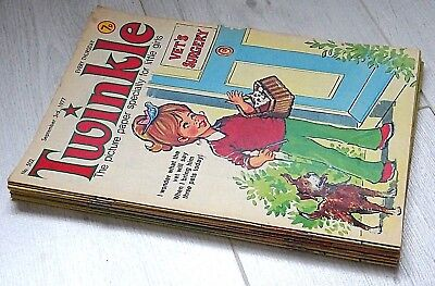 TWINKLE - 11 RARE ISSUES FROM 1977 & 1978 !! ALL LISTED. VG+/FINE....bunty beano
