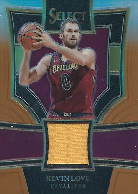 2017-2018 Panini Select Copper Prizm #SS-KLV 25/49 Patch Kevin Love Cavs NBA