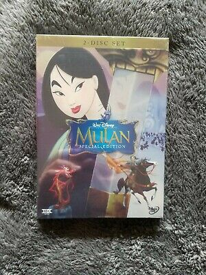 Disney's Mulan DVD Special Edition 2-Disc Set Free Shipping New & Sealed