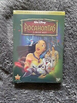 Pocahontas DVD 2 Disc Set Disney Movie Free Shipping New & Sealed