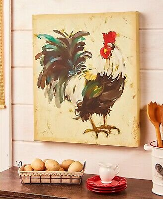 Rooster Farm Animal Canvas Wall Art Picture Country Rustic Farmhouse Home Decor
