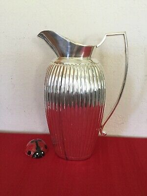 VTG FLUTTED PITCHER Sterling SILVER 12 inches