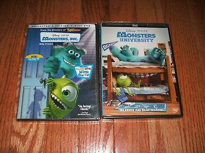 Brand New. Disney Pixar's Monsters Inc and Monsters University on DVD. Authentic