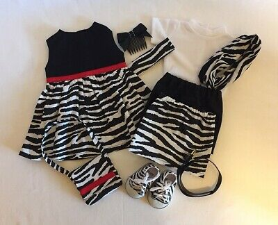 """Lot of 10 Doll Clothes fit 18"""" American Girl Doll Striped Dress Zebra Shoes #4"""