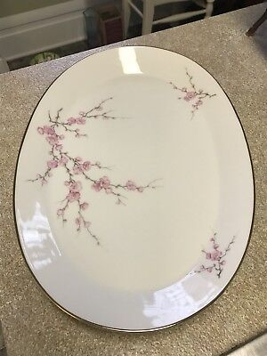 Hutschenreuther Noblesse Oval Platter with detailed cherry blossom designs