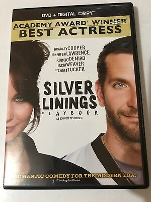 SILVER LININGS PLAY BOOK DVD 2013 Canadian Widescreen.  Digital Code Expired