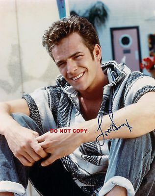 Luke Perry 8X10 Authentic In Person Signed Autograph Reprint Photo Picture Rp