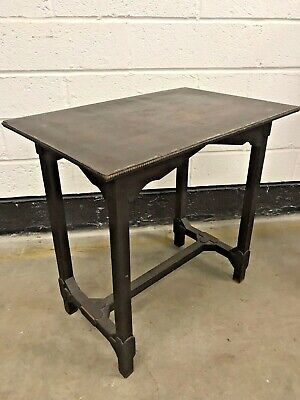 Antique Vintage Gothic Style Table - Possibly Hand Crafted - Very Dark Ebonised?