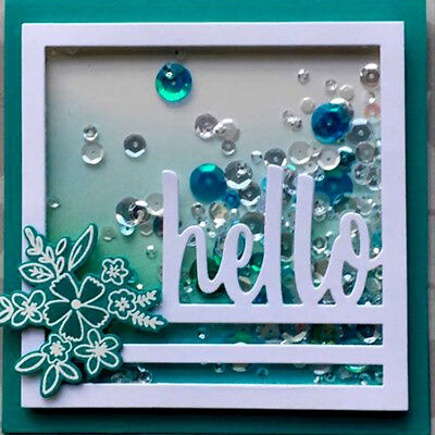 Cutting die word letter hello Chirstmas Embossing Scrapbooking Paper Card