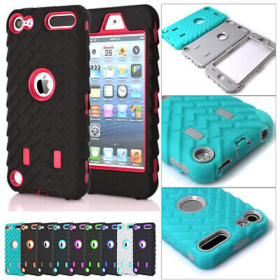 Shockproof Hybrid Silicone Rugged Bumper Case Cover For iPod Touch 5th 6th Gen