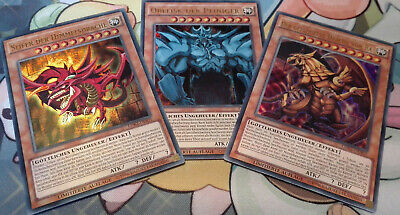 Yu-Gi-Oh! Götter-Set, Slifer + Obelisk + Ra, LDK2, Deutsch, Ultra Rare, NM