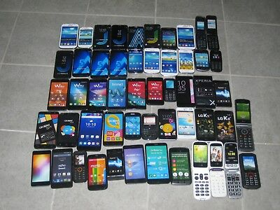 Lot 53 Telephones Factices Samsung Lg Nokia Huawei Sony Alcatel Wiko Echo Doro