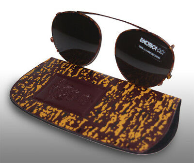Clip On Sunglasses By Luxottica Dutch Army Issue Brand New In Case.