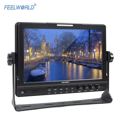 """FEELWORLD Pro 10.1"""" HD LCD 3G-SDI YPbPr Video Monitor for Camera Camcorder O2R4"""