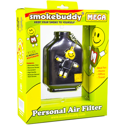 Smoke Buddy MEGA Personal Air Purifier Cleaner Filter Removes Odor (Black)