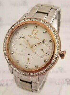 Citizen Eco-Drive FD2018-56A Women's 37mm Two-Tone Crystal Accent St/Steel Watch