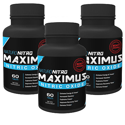 Maximus Nitric Oxide Tablets — High Potency NO Booster and L-arginine Supplement