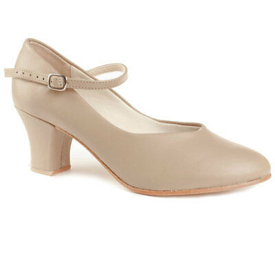"So Danca CH52 Character Shoe w/ Lther Sole, 2"" Heel, Size 5.5M-FITS 5M, Tan, NWD"