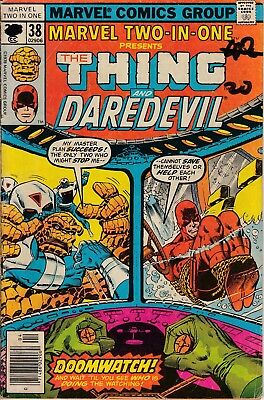 Marvel Two-In-One No. 38 of 100, The Thing and Daredevil 1978 Very Good
