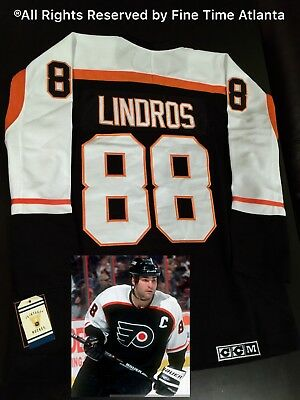 81b5c00eb90 NEW ERIC LINDROS Philadelphia Flyers Men s 1997 Stanley Cup Finals Retro  Jersey