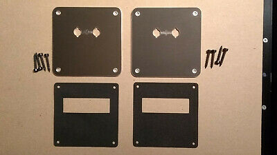WBT SPEAKER TERMINAL MOUNTING PLATE - 0530.06 PAIR + gaskets & fixing screws