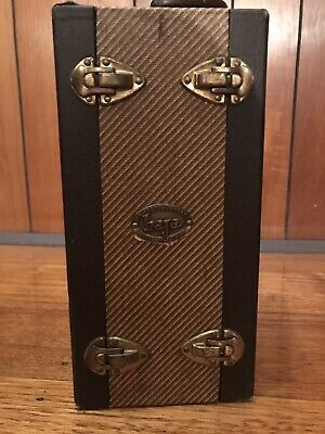 Barnett & Jaffe Tweed Slide Case Vintage store Guitar gear or harps, Jewellery
