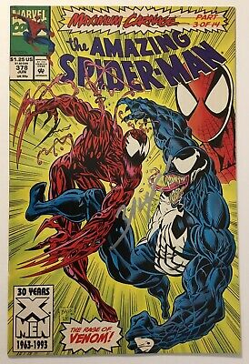 AMAZING SPIDER-MAN #378 (1993) Maximum Carnage Signed By MARK BAGLEY with COA