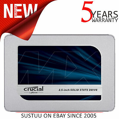 """Crucial MX500 1TB SATA 2.5"""" 7mm Internal Solid State Drive with 9.5mm Adapter"""